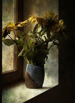 Zonnebloemen van Angelo van der Klift
