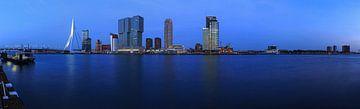 Rotterdam Skyline zur blauen Stunde von Frank Herrmann