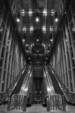 Zwart-Wit Station Blijdorp, Rotterdam van Vienna's Photography