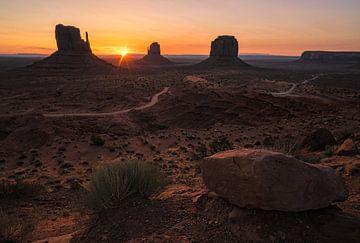 Le soleil colore le paysage Navajo sur Joris Pannemans - Loris Photography