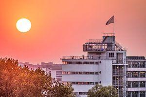 Coucher de soleil Van Nelle, Rotterdam sur