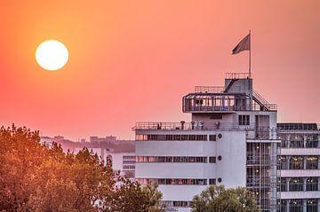 Coucher de soleil Van Nelle, Rotterdam sur Frans Blok