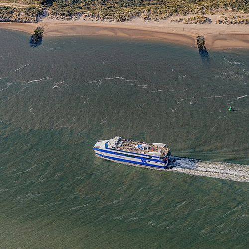 Drieluik 2/3 - Aankomst boot Vlieland