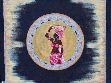 Afrikanische Frau 1 von Gulserin Gokcan