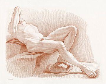 Liggend mannelijke naakt, Gilles Demarteau van Atelier Liesjes