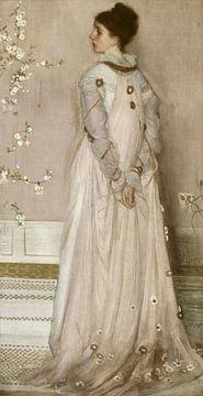 Symfonie in huidskleur en roze: Portret van Mrs. Frances Leyland, James McNeill Whistler (gezien bij