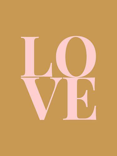 Love (goud/roze)