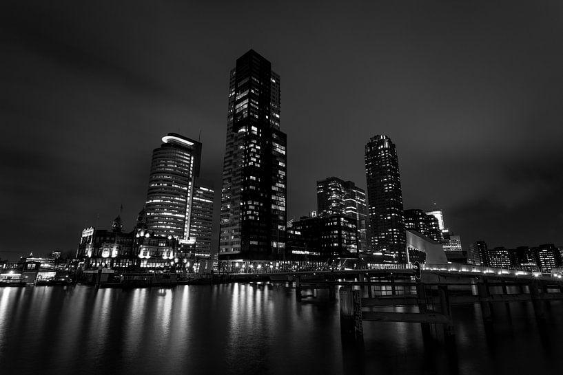 Rotterdam 's avonds van Albert Mendelewski
