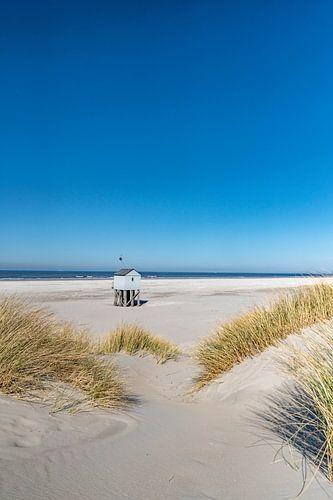 Tropische dag op het strand van Terschelling