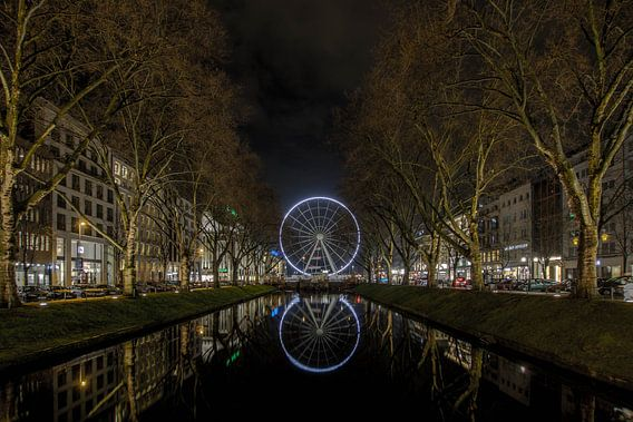 Reuzenrad Köningsallee Düsseldorf van Eus Driessen