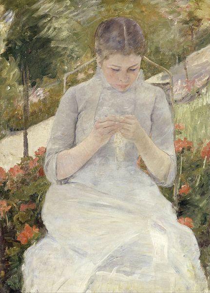 Mary Cassatt. Girl in the Garden van 1000 Schilderijen