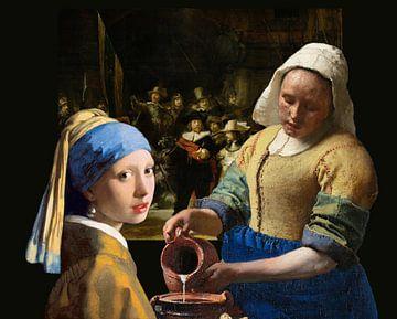Melkmeisje - Meisje met de parel - de Nachtwacht van Lia Morcus