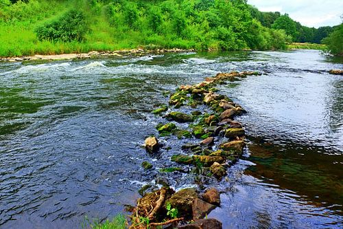 Fluss lippe 16 van Edgar Schermaul