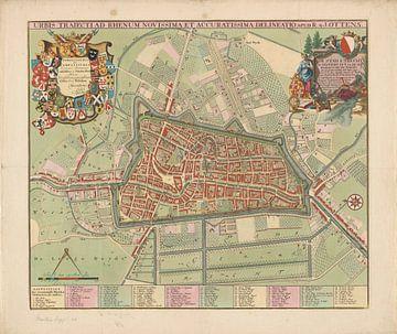 Plattegrond van de stad Utrecht, Jan van Vianen, 1726 - 1750