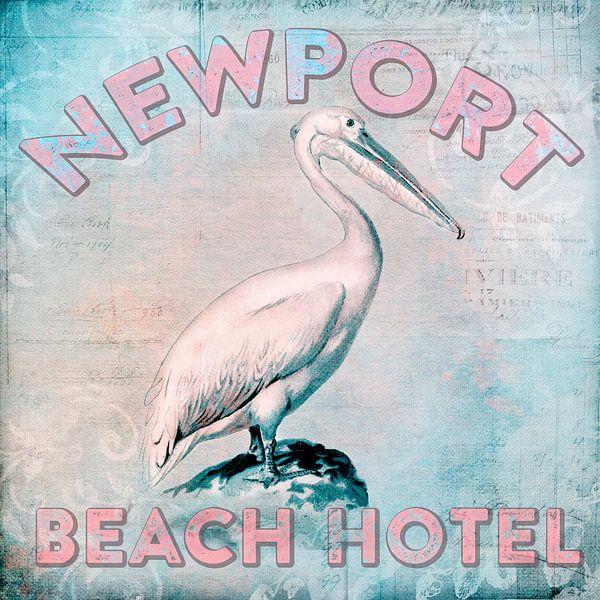 Pelican Nostalgia Newport Beach Hotel van Andrea Haase