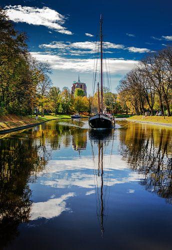 Stadsgracht Leeuwarden en Oldehove von Harrie Muis