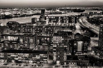Lloydkwartier bij nacht von Vincent van Kooten