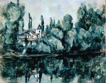De oevers van de Marne (Villa aan de oever van een rivier), Paul Cèzanne