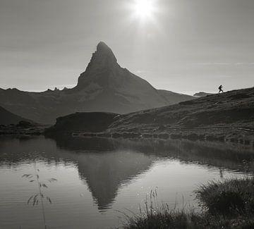 Wanderer am Matterhorn