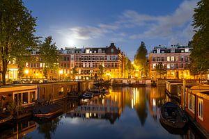 Volle maan reflectie Amsterdam van