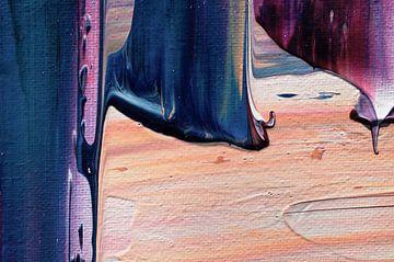 Macrofoto van groot werk met acrylic pouring von Angelique van 't Riet