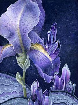 Schwertlilie und Amethyst von Natalia Gorst