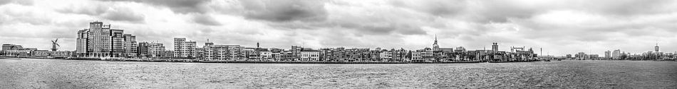 Zicht op Dordrecht (Zwart/Wit)