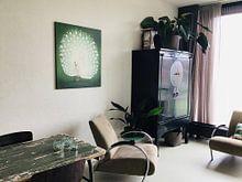 Klantfoto: Peacock, Ohara Koson, op canvas
