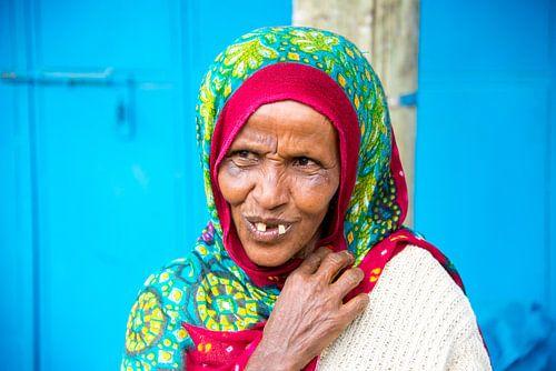 Marktvrouw in Ethiopie