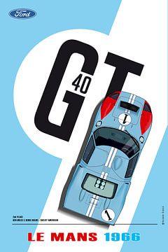 GT40 Ken Miles van Theodor Decker
