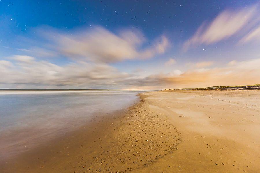 Domburg strand nacht 2 van Andy Troy