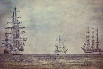 Tall Ships in der Nordsee von eric van der eijk