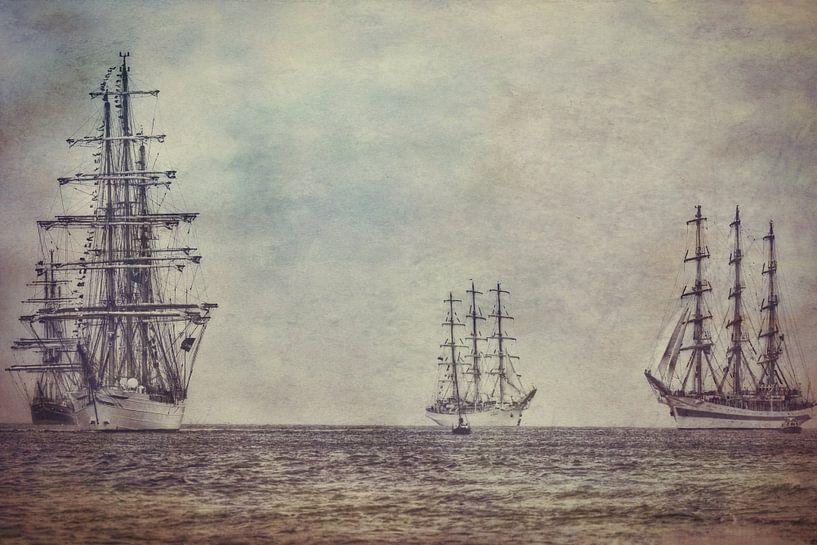 Tall Ships op de Noordzee van eric van der eijk