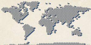 Wereldkaart wc-rollen van Frans Blok