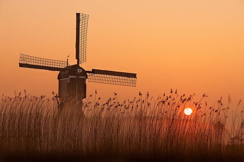 Winterse zonsopkomst bij de Broekmolen van Halma Fotografie