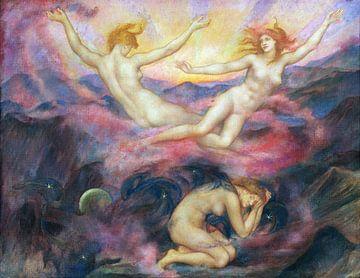 Evelyn De Morgan, Nacht und Morgengrauen - 1914 von Atelier Liesjes
