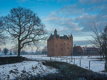 Een vroege januari ochtend bij Kasteel Doornenburg van
