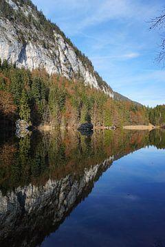 Spiegelung im Berglsteiner See, Tirol (Österreich) von Kelly Alblas