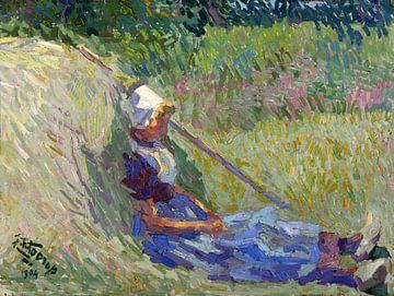 Ruhende Bäuerin, Jan Toorop, 1904 von Atelier Liesjes