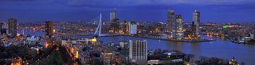 Skyline Rotterdam van Peet de Rouw