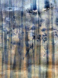 Abstrakt blau orange von Annemie Hiele