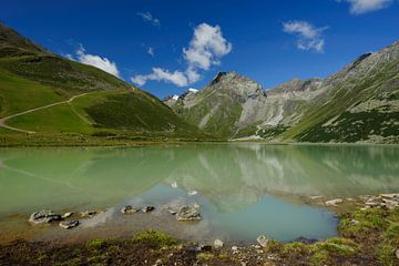Spiegelende Rifflsee - Tirol - Oostenrijk van Jeroen(JAC) de Jong