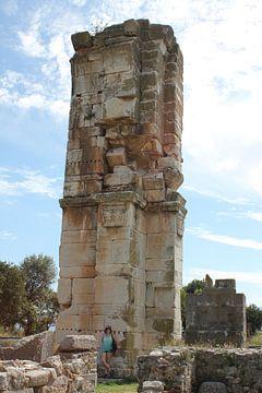 Hoekpijler / paal van de basiliek van Philippi / Φίλιπποι (Daton) - Griekenland van ADLER & Co / Caj Kessler