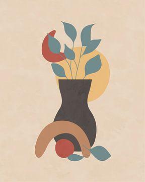 Minimalistische illustratie van een stilleven van Tanja Udelhofen