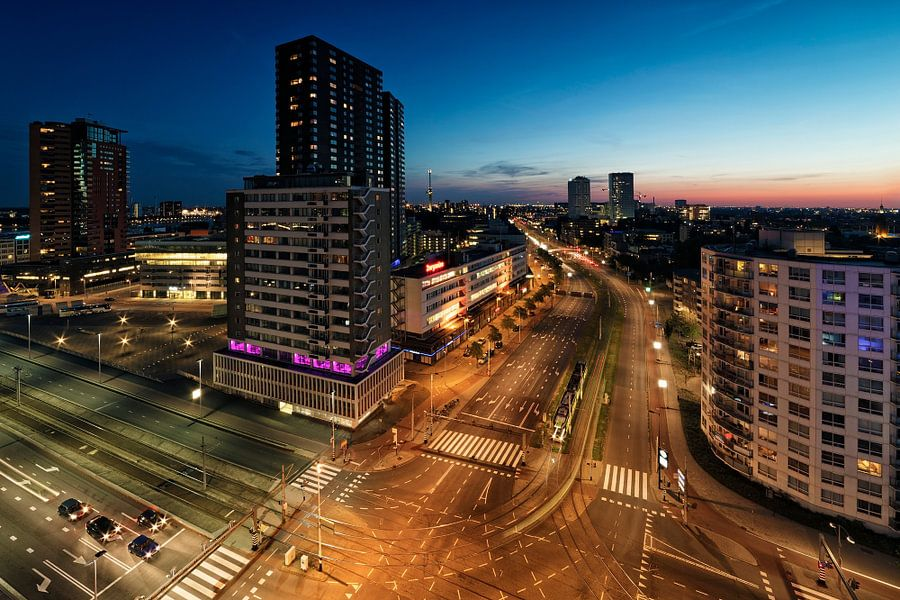Rotterdam Night van Rob van der Teen