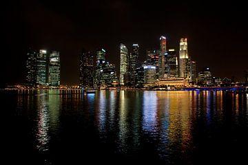 Skyline van Singapore van Arie Storm