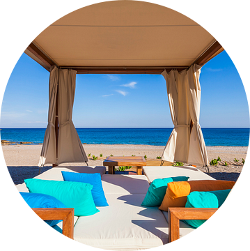 Lounge op het eiland Rhodos van Werner Dieterich