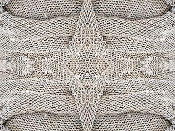 structuur van een visnet van Renée Teunis