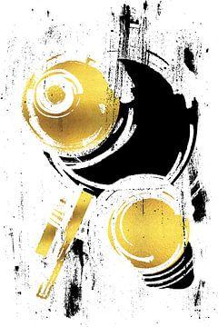 Abstrakte Malerei Nr. 38 | gold von Melanie Viola