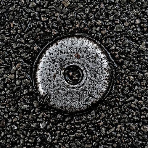 Metal Object in Asphalt